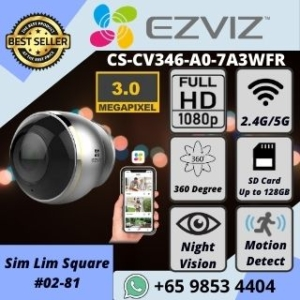 5G IP CAMERA SINGAPORE EZVIZ C6P WIFI PANORAMIC CAMERA