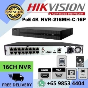 CCTV NVR Singapore Hikvision DS-7604NI-Q1 4P 4K Network Video Recorder