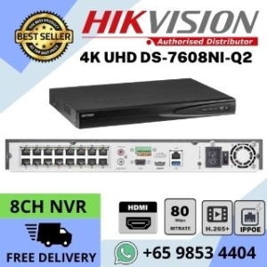 CCTV NVR Singapore Hikvision DS-7608NI-Q1 4P 4K Network Video Recorder GN320