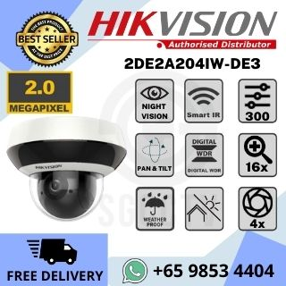 Hikvision Network Speed Dome DS-2DE2A204IW-DE3 Full HD 4X Powered by DarkFighter Smart IR