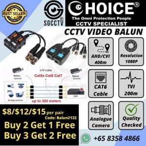 Video Balun Passive Active UTP CCTV CVI TVI AHD Analog Camera 4 Channel 8 Channel 16 Channel