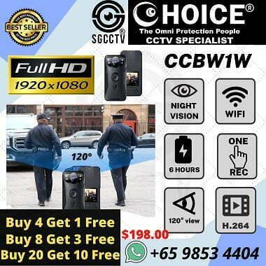 Body Worn Camera CCBW1W Police Body Worn WIFI Live Stream Security Enforcement Video Evidence Mobile Camera School Security