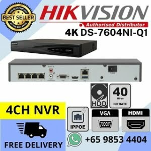 CCTV NVR Singapore Hikvision DS-7604NI-Q1 4P 4K Network Video Recorder 320