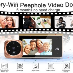 CCTV Singapore Door Camera Huawei Hisilicon Wifi Peephole Video Doorbell