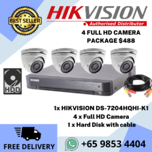 CCTV Singapore Hikvision Promotion Camera Package 4Cam DIY