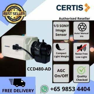 CCTV SINGAPORE CERTIS CISCO CCD480 BOX CAMERA