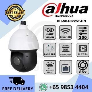 Dahua DH-SD49225T-HN Network Camera2MP H.265+ ONVIF 25x Starlight IR AI PTZ 360 degree Pan Tilt Zoom Outdoor IP66