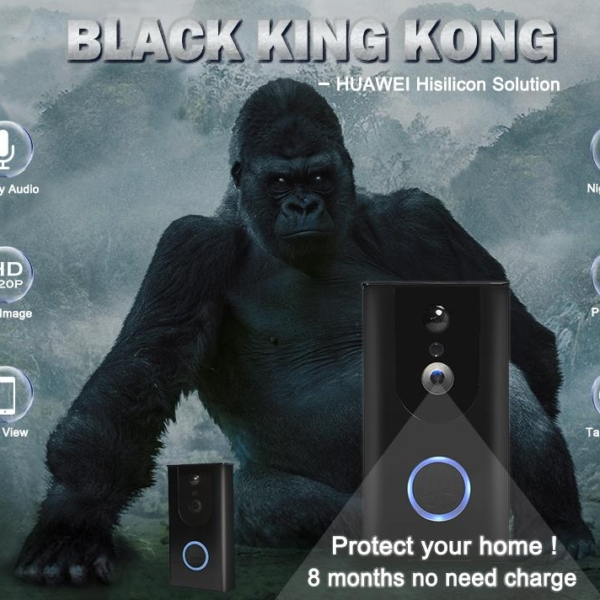 Door Entrance CCTV Singapore Huawei Hisilicon black KingKong Doorbell
