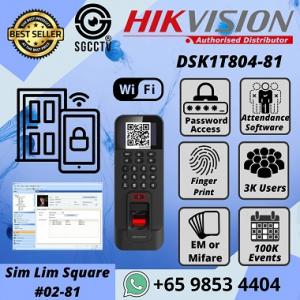 Fingerprint Access Hikvision DS-K1T804 Biometric Access Control Terminal Electronic Door Lock Time Attendance Office Warehouse EM Card Mifare Card