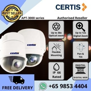 Pan Tilt Zoom Camera Optical Zoom 360 Degrees High Speed CCTV Singapore Certis Cisco PTZ APT3000 Analog