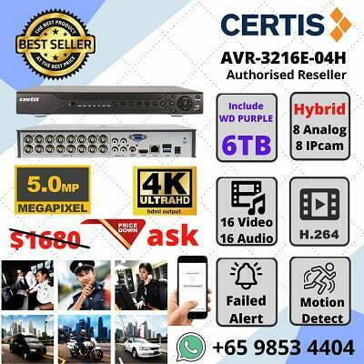 CERTIS CISCO 16CH Network DVR AVR-3216E-04H HYBRID Analog+IP ATM Bank Airport Custom ICA Immigration Police Force Money Changer
