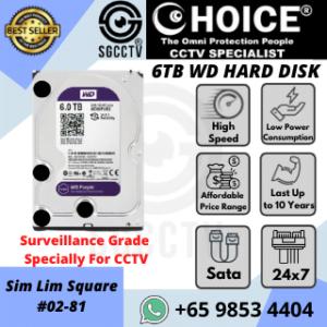 6TB WESTERN DIGITAL Purple Surveillance 24x7 Low Power Durable Hard Disk
