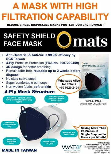 Best Gifts 4-Ply Safety Shield Face Mask Anti Covid Omats