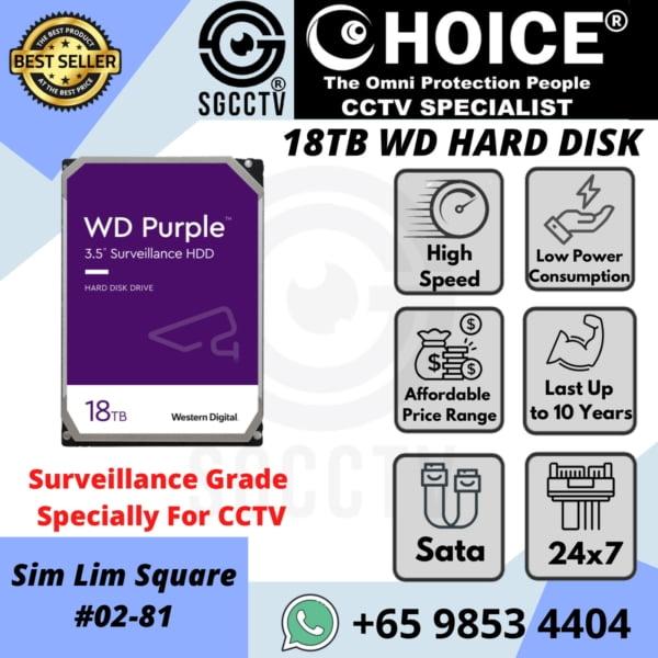 Western Digital 10TB WD Purple Surveillance Internal Hard Drive SATA-6Gb-s 256-MB Cache 3-5 WD102PURZ
