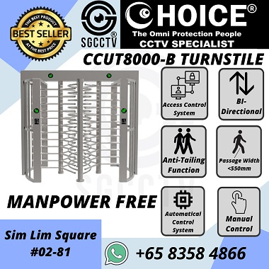 Turnstile CCUT800B Access Control Manpower Free Time Attendance Facial Recognition Trace Together Safe Entry.jpg