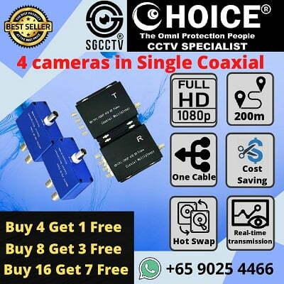 CCTV Multiple Camera Over Single Coaxial RG59 Coaxial Multiplexer Video Modulator