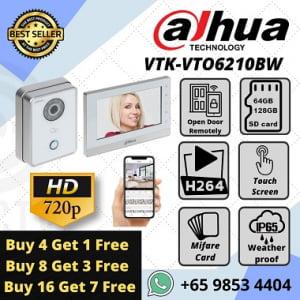 Dahua IPC Video Intercom VTK-VTO6210BW-VTH1560BW IOT Smart Home Elderly Helper Baby Infant Stranger Delivery Sim Lim Square 0281