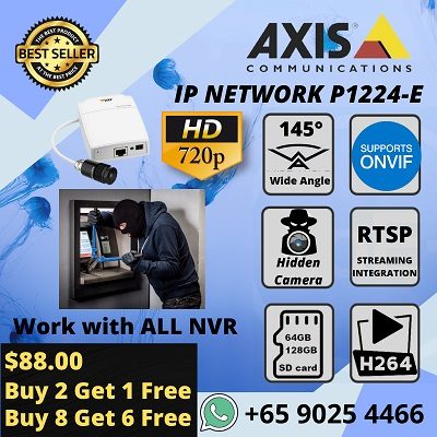 Hidden Camera Axis P1224-E Security Camera Wide Angle SPY CCTV ATM Lifts Jewelry Hotel Retail
