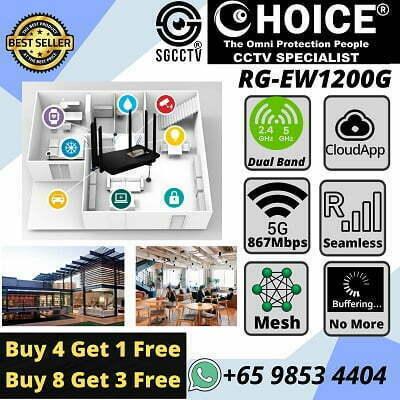 Mesh Router RG-EW1200G Seamless Roaming Cloud App Mix N Match Dual Band Gigabit Wireless Router No Buffering Higher Speed Sim Lim Square