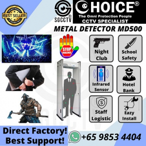Metal Detector Gate MD500 Hidden Weapon Knife Axe Arms Use-in Prison Airport Immigration School Night Club BankSecurity Entrance Stop Violent