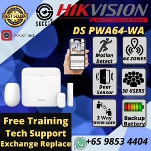 Wireless Alarm Hikvision DS-PWA64-Kit-WE AX PRO Alarm System Home Office Security Warehouse Store Alarm No Installation No Messy Wiring Plug & Play 64 Wireless Zones 30 Users